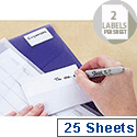 Avery Multipurpose Labels Pad Permanent 94x37mm White Ref 5051 [50 Labels]