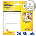 Avery Multipurpose Labels Pad Permanent 45x30mm White (75 Labels)