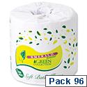 Emerald Toilet Rolls 2-Ply 500 Sheets White Pack of 96 Toilet Paper Rolls Ref VEMR5701-B