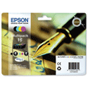 Epson 16 4 Colour Inkjet Cartridge Pen & Crossword Multipack T16264010