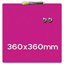 Quartet Magnetic Drywipe Board Square Tile Shocking Pink Ref 1903803