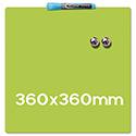 Quartet Magnetic Drywipe Board Square Tile Lime Green Ref 1903773