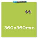 Quartet Magnetic Drywipe Board Square Tile Lime Green Ref 1903773