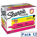 Sharpie Fluo XL Highlighter Chisel Tip 3 Widths Pink Ref 1825635 [Pack 12]