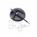 Desk Counter Ball Pen Chained to Base 1.0mm Tip 0.5mm Line Black Ref KP1009