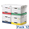 Fellowes Bankers Box Flip Top Storage Cube Rainbow Pack Ref 0039701 [Pack 12]