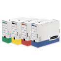 Fellowes Bankers Transfer Box 100mm A4 Rainbow Pack Ref 0039101 [Pack 12]