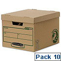 Fellowes Bankers Box Earth Series Heavy Duty Standard Box 4479901 [Pack 10]