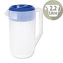 Jug Frosted Polypropylene with Lid 2.2 Litre