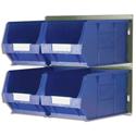 Barton Bin Kit Louvred Panel and 4 x TC4 Bins Blue Ref 010097GB