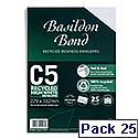 Basildon Bond C5 White Envelopes Peel and Seal Pocket Pack 25 Ref R10047