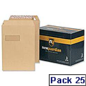 New Guardian C5 Manilla Envelopes Peel and Seal Pocket Pack 25 Ref R10001