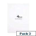 Silvine Plus PAD Medium White Ref PERPP2W [Pack 3]