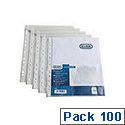 Elba Punched Pockets Embossed 60 Microns A5 Ref 400025671 [Pack 100]