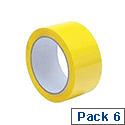 Tape Polypropylene 50mmx66m Yellow Ref YCP50 [Pack 6]