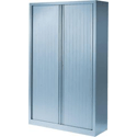 Vinco A491 Tambour Cupboard H1600xW1000xD430mm Silver Shell Silver Doors GAP1610LC