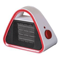 Fan Heater Dual Heat Setting 700W and 1500W Triangular PTC Red Ref ES1270