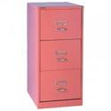Bisley GLO 3-Drawer Filing Cabinet Pink Ref BS3C