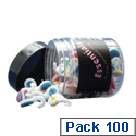 Hook Push Pins Assorted Colours Ref 20581 [Tub 100]