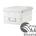 Leitz WOW Click and Store Medium Storage Box For A4 White Ref 60440001