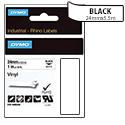 Dymo Rhino Tape Permanent Vinyl 24mm Black on White Ref 1805430