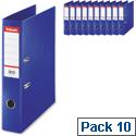 Esselte Lever Arch File Foolscap Blue Pack 10
