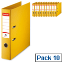 Esselte Lever Arch File A4 Yellow Pack 10