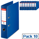 Esselte Lever Arch File A4 Blue Pack 10