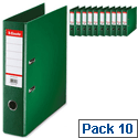 Esselte Lever Arch File A4 Green Pack 10