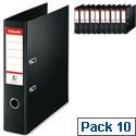 Esselte Lever Arch File A4 Black Pack 10