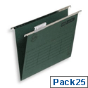 Elba Verticfile Ultimate Suspension File Manilla 240gsm Foolscap Green Ref 100331120 [Pack 25]