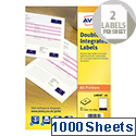 Avery Double Integrated Label Sheet 95x65mm (2000 Labels)