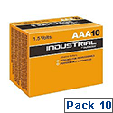 Duracell Industrial Batteries AAA Pack 10