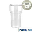 Robinson Young Caterpack Polycarbonate Disposable Tumblers Half Pint 284ml [Pack of 48]