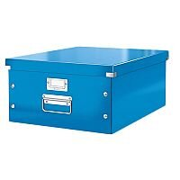 Leitz WOW Click and Store Archive Box Collapsible Large For A3 Blue Ref 60450036