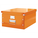 Leitz WOW Click and Store Archive Box Collapsible Large For A3 Orange Ref 60450044