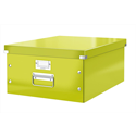 Leitz WOW Click and Store Archive Box Collapsible Large For A3 Green Ref 60450064