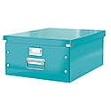Leitz WOW Click and Store Archive Box Collapsible Large For A3 Ice Blue Ref 60450051