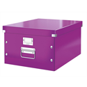 Leitz WOW Click and Store Archive Box Collapsible Large For A3 Purple Ref 60450062