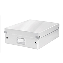 Leitz WOW Click and Store Organiser Box Medium White Ref 60580001