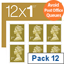 Royal Mail Postage 12 X 1st Class Stamps