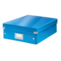 Leitz WOW Click and Store Organiser Box Medium Blue Ref 60580036