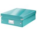Leitz WOW Click and Store Organiser Box Medium Ice Blue Ref 60580051