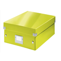 Leitz WOW Click and Store Organiser Box Medium Green Ref 60580064