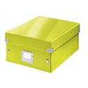 Leitz WOW Click and Store Organiser Box Medium Green Ref 60580064
