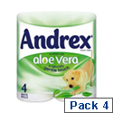 Andrex Toilet Paper Rolls 2-Ply 240 Sheets Aloe Vera Ref M02073 [Pack 4]