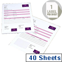 Avery Integrated Single Label Sheet 85x54mm White (40 Sheets)