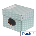 Bankers Box by Fellowes Storage Box Windowed Recycled FSC A4 Green/White Ref 4481401 [Pack 4]