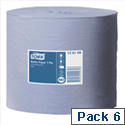 Tork Centrefeed Paper Roll 1 Ply 210mm x 300m Blue [Pack 6]