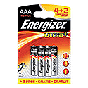 Energizer Ultra Plus AAA Batteries Pk 4 Plus 2